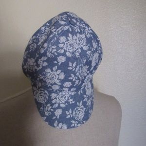Accessories - NWT Lace and Chambray Printed Baseball Hat
